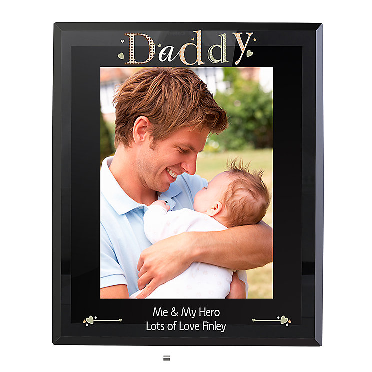 Personalised Daddy Black Glass Frame - Product number 2034573