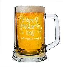 Engraved Happy Father's Day Pint Stern Tankard - Product number 2034603