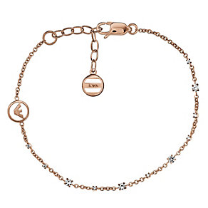 Emporio Armani rose gold-plated stone set chain bracelet - Product number 2035685
