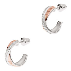 Emporio Armani two colour stone set hoop earrings - Product number 2035693