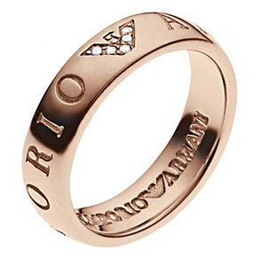 Emporio Armani rose gold-plated stone set eagle ring - Product number 2035723