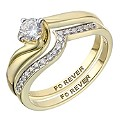 The Forever Diamond 9ct Yellow Gold Diamond Bridal Set - Product number 2036126