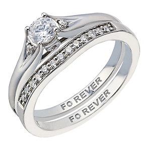 The Forever Diamond Palladium 0.40 Carat Bridal Set - Product number 2036401