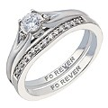The Forever Diamond Palladium 0.40 Carat Bridal Set - Product number 2036401