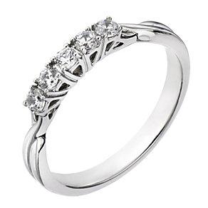 The Forever Diamond Palladium ¼ Carat Diamond Eternity Ring - Product number 2037009