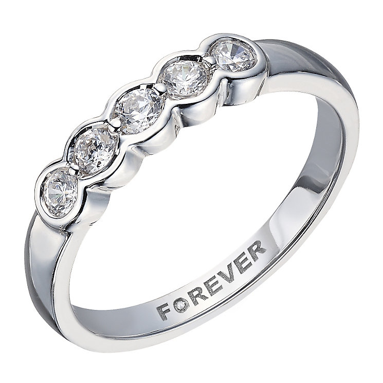 The Forever 18ct White Gold 1/4 Carat Diamond Eternity Ring - Product number 2037440