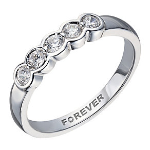 The Forever 18ct White Gold ¼ Carat Diamond Eternity Ring - Product number 2037440