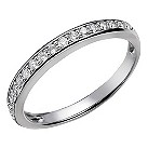 18ct white gold 1/5 carat diamond ring - Product number 2037718