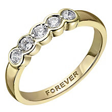 The Forever 18ct Yellow Gold 1/4 Carat Diamond Eternity Ring - Product number 2037939