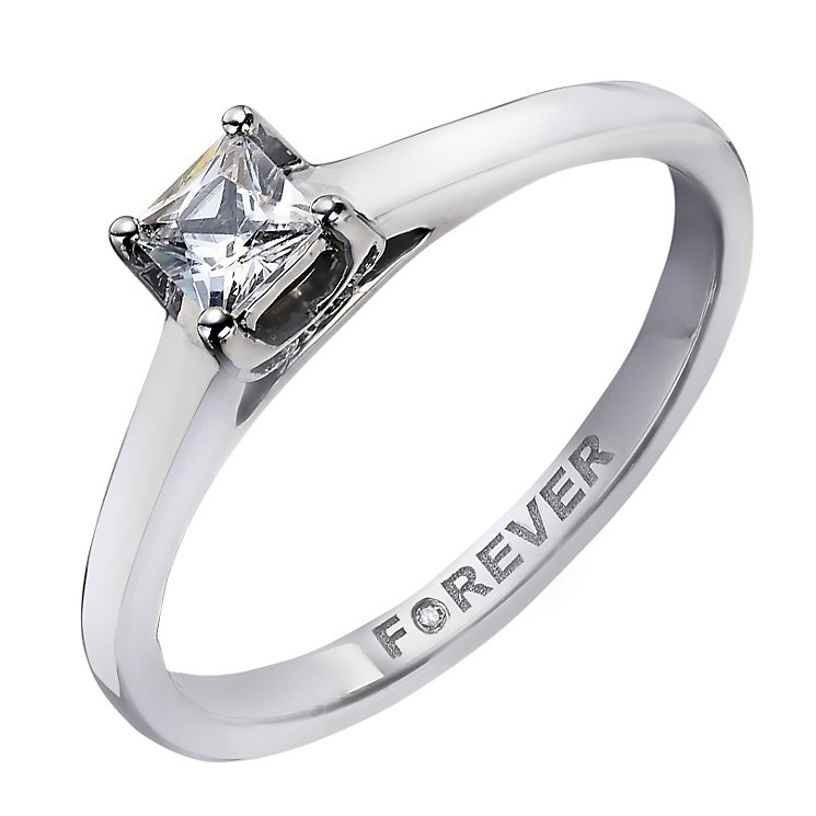 The Forever Diamond Palladium Princess Cut Solitaire - Product number 2038218