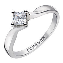 The Forever Diamond Palladium 1/3 Carat Princess Solitaire - Product number 2038382