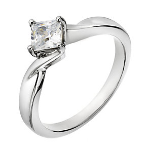 The Forever Diamond Palladium Half Carat Princess Solitaire - Product number 2038676