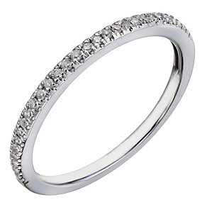 18ct white gold 10 point diamond ring - Product number 2038838