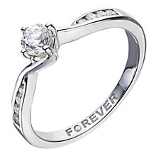 Palladium Twist Forever Diamond Solitaire Ring - Product number 2038986