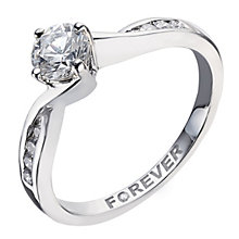 Palladium 1/2 carat total Forever Diamond ring - Product number 2039168
