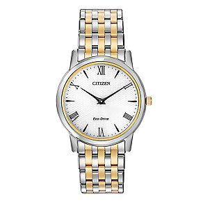 Citizen men's two colour bracelet watch - Product number 2039311