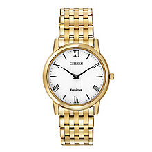 Citizen Eco-Drive Men's Gold-Plated Bracelet Watch - Product number 2039338