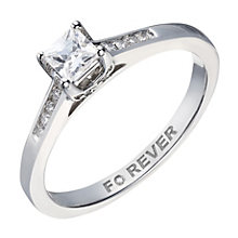 18ct White Gold Forever Diamond Princess Solitaire Ring - Product number 2039508