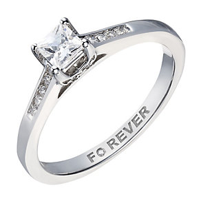 The Forever Diamond 18ct White Gold Princess Cut Solitaire - Product number 2039508