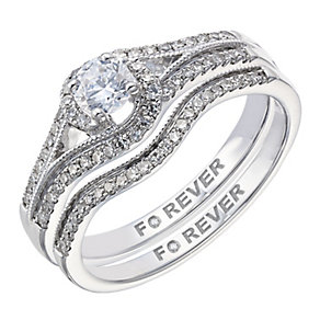 The Forever Diamond 18ct White Gold Diamond Bridal Set - Product number 2039699
