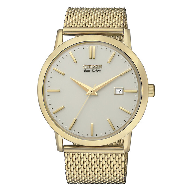 Citizen Eco-Drive men's stainless steel mesh bracelet watch - Product number 2039877