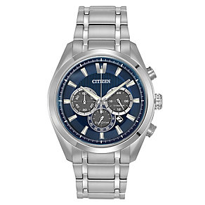 Citizen Eco-Drive men's titanium chronograph bracelet watch - Product number 2039885