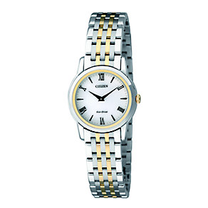 Citizen ladies' two colour stainless steel bracelet watch - Product number 2039923