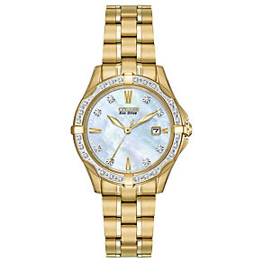 Citizen Eco-Drive ladies' gold-plated bracelet watch - Product number 2039958