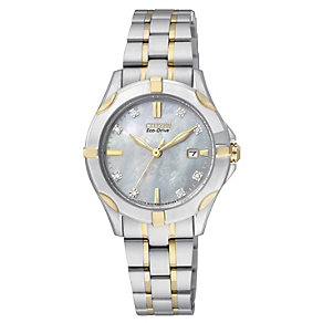 Citizen Eco-Drive ladies' gold-plated bracelet watch - Product number 2039974