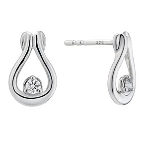 The Forever Diamond 9ct White Gold Diamond Stud Earrings - Product number 2040018