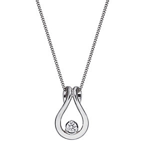 The Forever Diamond 9ct White Gold Diamond Pendant - Product number 2040026