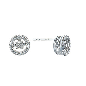 Diamonds In Rhythm Sterling Silver Diamond Stud Earrings - Product number 2040050