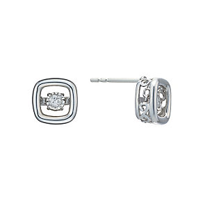 Diamonds In Rhythm Sterling Silver Diamond Stud Earrings - Product number 2040069