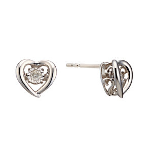 Diamonds In Rhythm Sterling Silver Diamond Stud Earrings - Product number 2040077