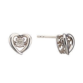Diamonds In Rhythm Sterling Silver Diamond Stud Earrings - Product number 2040077