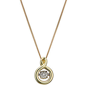 Diamonds In Rhythm 9ct Gold Diamond Round Pendant - Product number 2040131