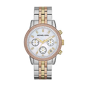 Michael Kors ladies' three colour bracelet watch - Product number 2046091