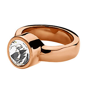 Dyrberg Kern Cyrielle Rose Gold-Plated Crystal Ring Medium - Product number 2048906