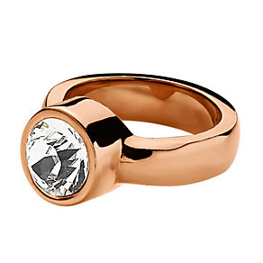 Dyrberg Kern Cyrielle Rose Gold-Plated Crystal Ring Large - Product number 2048922