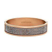 Dyrberg Kern Heli II Rose Gold-Plated Crystal Bangle - Product number 2048973