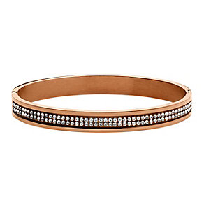 Dyrberg Kern Lorbel II Rose Gold-Plated Crystal Bangle - Product number 2048981