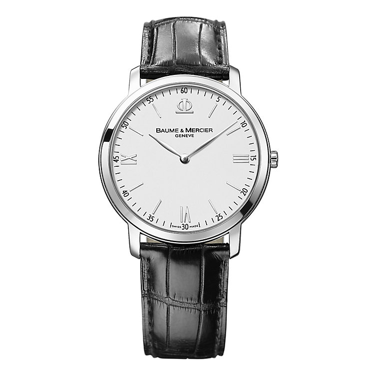 Baume & Mercier Classima men's black leather strap watch - Product number 2049228