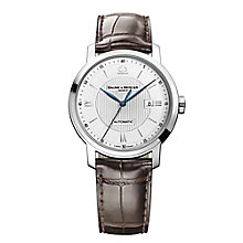 Baume & Mercier Classima men's brown leather strap watch - Product number 2049317