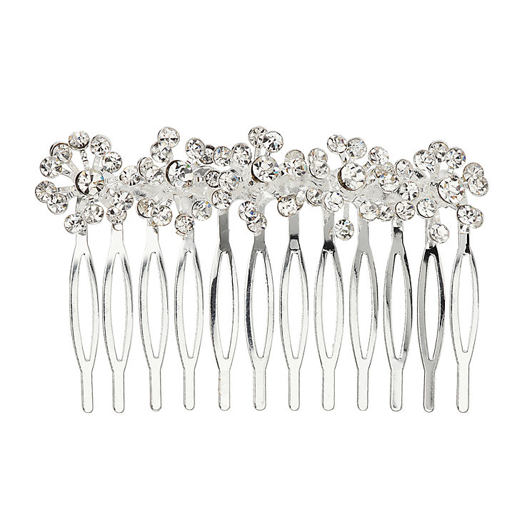 Mikey Bridal Crystal Five Flower Design Hair Piece - Product number 2049740
