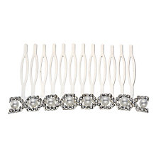 Mikey Bridal Crystal & Imitation Pearl Wave Hair Piece - Product number 2049759