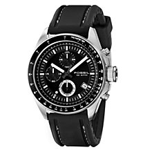 Fossil Decker men's chronograph black silicone strap watch - Product number 2050994