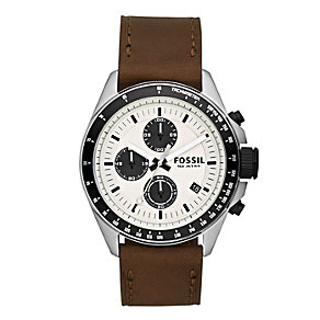 Fossil Decker men's chronograph brown leather strap watch - Product number 2051001
