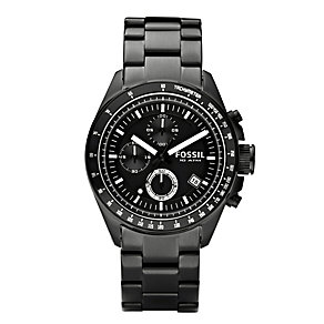 Fossil Decker men's black ion-plated bracelet watch - Product number 2051036