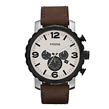 Fossil Nate men's chronograph brown leather strap watch - Product number 2051141