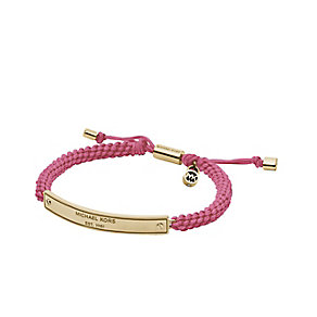 Michael Kors gold-plated pink cord friendship bracelet - Product number 2051176